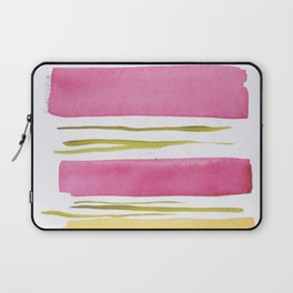 17    181026 Lines & Color Block   Watercolor Abstract   Modern Watercolor Art Laptop Sleeve