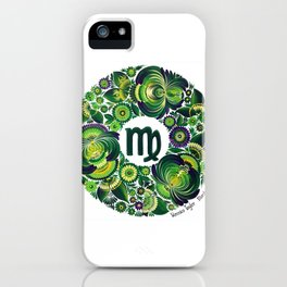 Virgo in Petrykivka style (with signature) iPhone Case