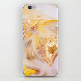 Modern Blush and gold Agate iPhone Skin