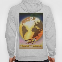 Travel The World Vintage style travel poster Hoody