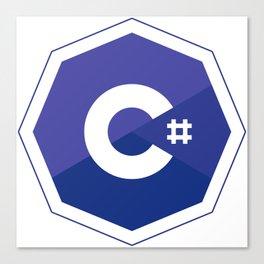 c# developers logo dot net Canvas Print