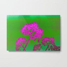 Funky Floral - JUSTART © Metal Print
