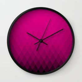 Pink ombre triangles Wall Clock