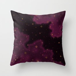 Garnet Universe Throw Pillow