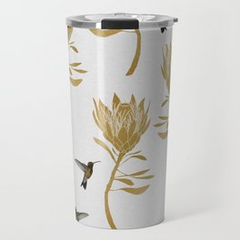 Hummingbird & Flower I Travel Mug