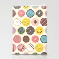 donuts Stationery Cards featuring DONUTS! by JONGMEE