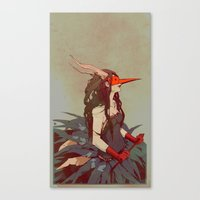 capricorn Canvas Prints featuring capricorn by derrewyn