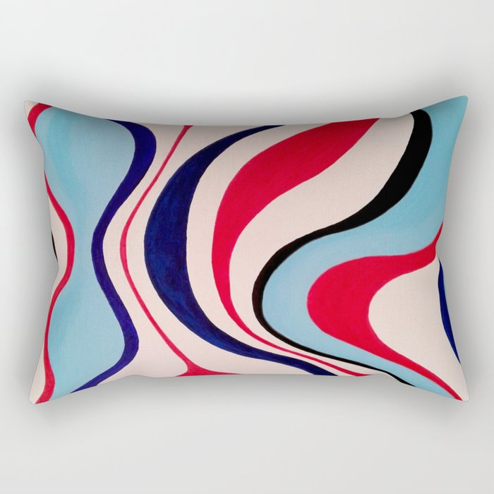 """Timelessness"" Original oil finger painting by Monika Toth Rectangular Pillow"