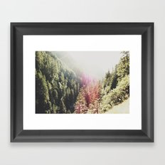 Mountain Flare Framed Art Print