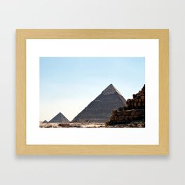 The Great Pyramids of Giza, Cairo, Egypt Framed Art Print