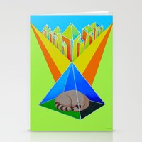 racoon Stationery Cards featuring Crystal Racoon by Cariann Dominguez