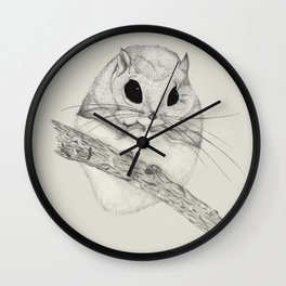 Fuzzball-gray Wall Clock