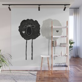 Ying Yang Sheep Wall Mural