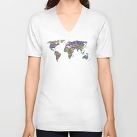decal V-neck T-shirts featuring Overdose World by Bianca Green