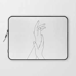 Hands line drawing illustration - Dia Laptop Sleeve