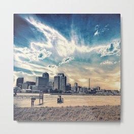 New Orleans Skyline Classic Blue Metal Print