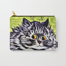 "Louis Wain's Cats ""Kitty On Coffee Break"" Carry-All Pouch"
