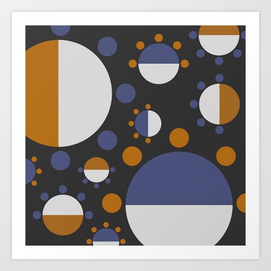 MORE AND MORE CIRCLES  (abstract pattern Art Print