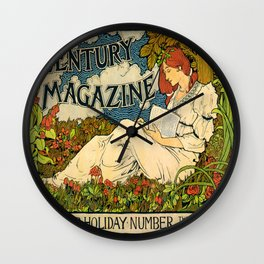 Vintage poster - Century Magazine Wall Clock