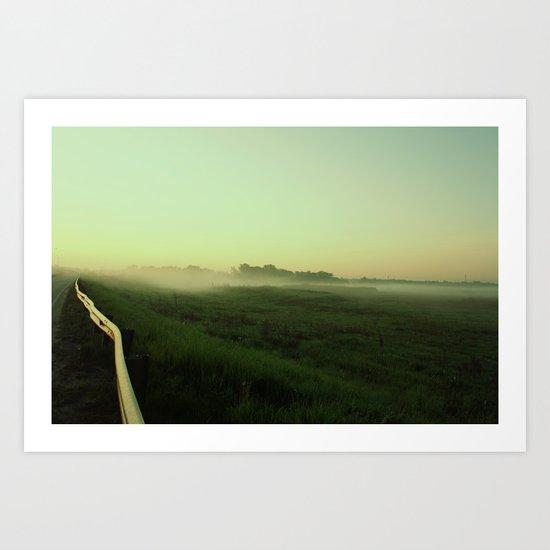 Before the sunrise/fog Art Print