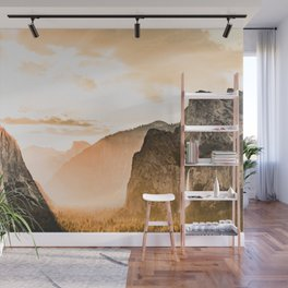 Yosemite Valley Burn - Sunrise Wall Mural