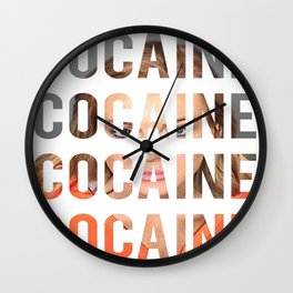 LINDSAY LOHAN - COCAINE Wall Clock