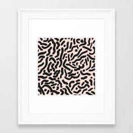 BRUSHED LINES Framed Art Print