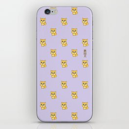 Hachikō, the legendary dog pattern iPhone Skin