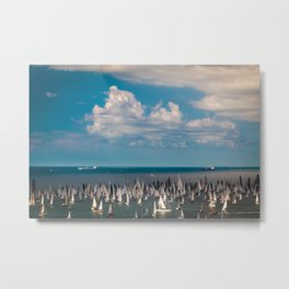 The Barcolana regatta in the gulf of Trieste Metal Print