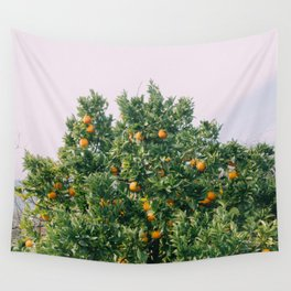 Oranges for Days Wall Tapestry