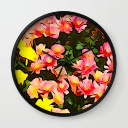 Painted Flowers of Autumn Wall Clock