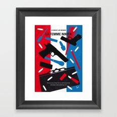 No545 My La Femme Nikita minimal movie poster Framed Art Print