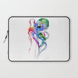 Rainbow Octopus, blue green octopus decor Laptop Sleeve
