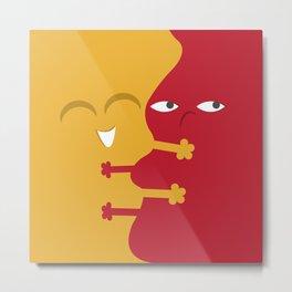Mustard & Ketchup Hug Metal Print