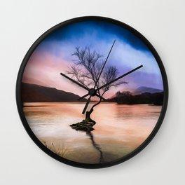 Llanberis Lake Tree Wall Clock