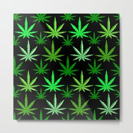 Marijuana Green Weed Metal Print