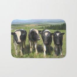 Curious Kiwi Cows Bath Mat