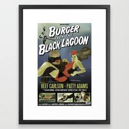 Burger From the Black Lagoon Framed Art Print