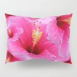 GIRLY TROPICAL PINK HIBISCUS ART Pillow Sham