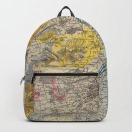 Vintage Geological Map of Edinburgh Scotland (1883) Backpack