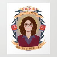 heymonster Art Prints featuring Liz Lemon by heymonster