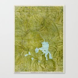 Map of Yellowstone 1898 Canvas Print
