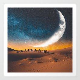 Morocco's desert Art Print