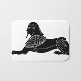 Sphinx - mythical creatures of ancient Egypt Bath Mat