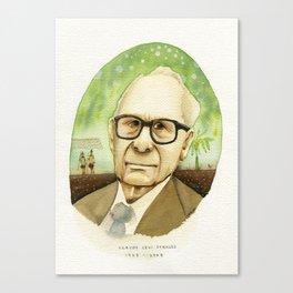 Portrait of Philosophers Vol.5 Claude Lévi-Strauss Canvas Print