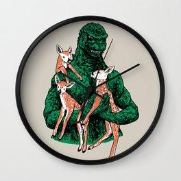 Fawns Meet Kaiju Wall Clock