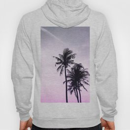 Palms on the Beach - Ultra violet, pink, purple and black Hoody