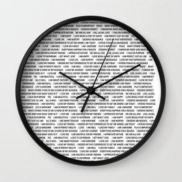 Inspirational Shirt Wall Clock