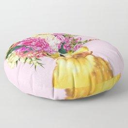 Flower Crown Baby Duck in Pink Floor Pillow
