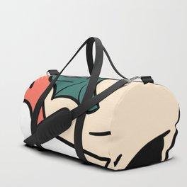 Flaming Flying Skull Duffle Bag